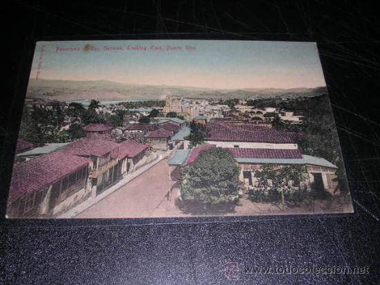 PUERTO RICO,PANORAMA S, GERMAN,MANDADA POR LUIS BRAU ZUZUARREGI,VER FOTO ADC.DIRECTOR DEL SEMANARIO (Postales - Postales Extranjero - América)