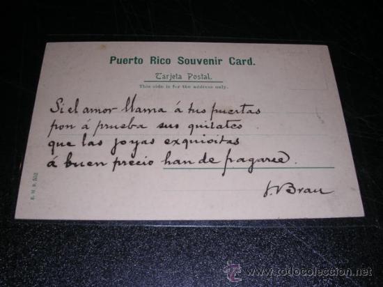 Postales: PUERTO RICO,PANORAMA S, GERMAN,MANDADA POR LUIS BRAU ZUZUARREGI,VER FOTO ADC.DIRECTOR DEL SEMANARIO - Foto 2 - 25772117