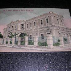 Postales: PUERTO RICO,HOSPITAL,POST. MANDADA POR LUIS BRAU ZUZUARREGI,VER FOTO ADC,DIRECTOR DEL SEMANARIO SATI. Lote 25772539