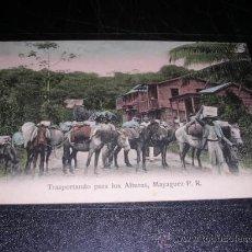 Postales: PUERTO RICO,MAYAGUEZ, VER FOTO ADIC, MANDADA POR LUIS BRAU ZUZUARREGUI,DIRECTOR SEMANARIO SATIRICO,. Lote 25773469