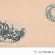 Postales: AVENIDA CALLAO: REPUBLICA ARGENTINA. ANTIGUA POSTAL O ENTERO POSTAL 4 CENTAVOS SIN USAR. RARA.. Lote 26260227