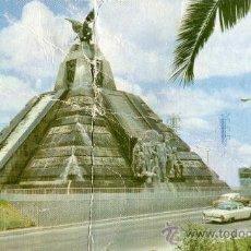 Postales: MONUMENTO A LA RAZA ESCRITA CIRCULADA SELLOS . Lote 27431990