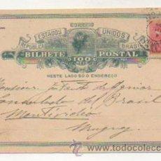 Postales: TARJETA POSTAL. REPUBLICA ESTADOS UNIDOS BRASIL. CIRCULADA DE BRASIL A URUGUAY. . Lote 27709971