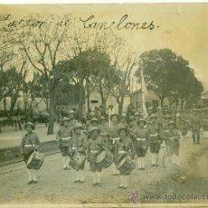 Postales: ESTACION CANELONES.DESFILE. EE.UU. CESAREO L. BERISSO FUNDADOR AERONÁUTICA. URUGUAY 1918. CENSURADA.. Lote 28134088