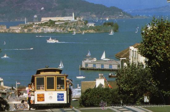 SAN FRANCISCO ALCATRAZ ESCRITA CIRCULADA SELLO (Postales - Postales Extranjero - América)