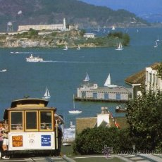 Postales: SAN FRANCISCO ALCATRAZ ESCRITA CIRCULADA SELLO. Lote 28725896