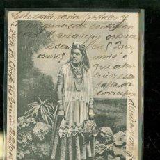 Postales: TARJETA POSTAL COSTUMBRISTA. MEXICO. INDIA DEL VALLE DE MEXICO. GUILLERMO BAUER. VER DORSO.. Lote 28826226