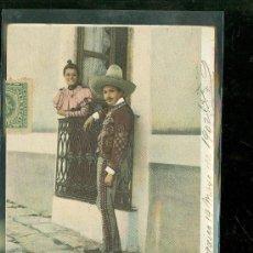 Postales: TARJETA POSTAL COSTUMBRISTA. MEXICO. NOVIOS MEXICANOS. VER DORSO.. Lote 28826663