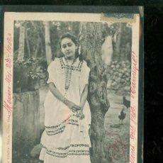 Postales: TARJETA POSTAL COSTUMBRISTA. MEXICO. SEÑORITA YUCATECA. VER DORSO. . Lote 28826835