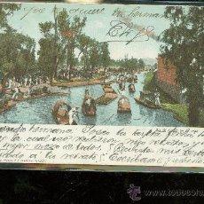 Postales: TARJETA POSTAL DE MEXICO. DIA DE FIESTA EN LA VIGA. J. GRANAT. VER DORSO.. Lote 28839581