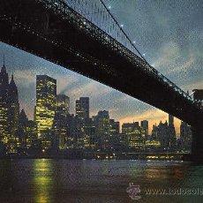 Postales: CINCO CONTINENTES Nº 7 NEW YORK PUENTE DE BROOKLYN ESCUDO DE ORO SIN CIRCULAR . Lote 29132104