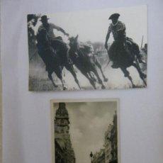 Postales: POSTAL BUENOS AIRES-AVENIDA DE MAYO. (AÑOS 30?). FOTOGRAFÍA DOMA DE POTROS.. Lote 29630099