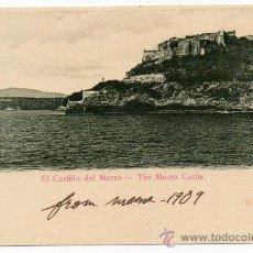 Postales: CUBA, 1909, EL CASTILLO DEL MORRO, ESCRITA. Lote 99369055