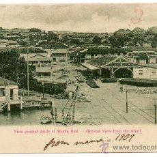 Postales: CUBA, 1909, VISTA GENERAL DESDE EL MUELLE REAL, ESCRITA. Lote 99369120