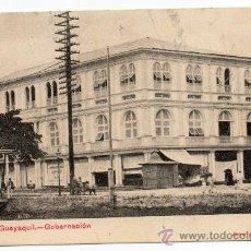 Postales: GUAYAQUIL,ECUADOR, EDIFICIO GOBERNACION, Nº1 SERIE, CIRCA 1900, SIN CIRCULAR. Lote 30048368