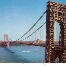Postales: Nº 5150 GEORGE WASHINGTON BRIDGE NEW YORK PUENTE. Lote 30068512