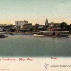 Postales: RECUERDO DE CORRIENTES. ARGENTINA. PUERTO. BARBIER EDITORES. REVERSO SIN DIVIDIR. SIN CIRCULAR.. Lote 30272852