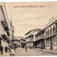 Postales: PANAMA, CENTRAL AVENUE, CIRCA 1920, SIN CIRCULAR. Lote 30297263