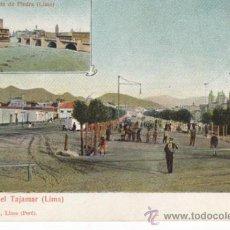 Postales: POSTAL ANTIGUA DE LIMA, PERÚ. AVENIDA DEL TAJAMAR Y PUENTE DE PIEDRA. EDUARDO POLACK.. Lote 30895098