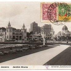 Postales: BRASIL,RIO DE JANEIRO,1931, JARDIN GLORIA.. Lote 30982178