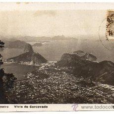 Postales: BRASIL, RIO DE JANEIRO, 1930, VISTA DESDE EL CORCOVADO. Lote 30985961