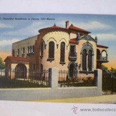 Postales: BONITA POSTAL; PRECIOSA RESIDENCIA EN JUAREZ, VIEJO MEXICO, AÑOS 60, CIRCULADA. . Lote 31016430