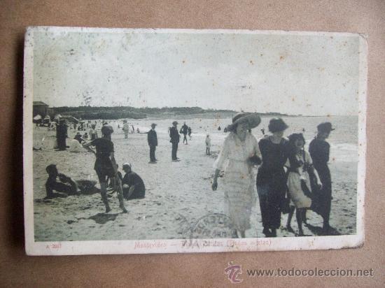 MONTEVIDEO PLAYA POCITOS, BAÑOS MIXTOS. A 2061 CIRCA 1915 - URUGUAY (Postales - Postales Extranjero - América)