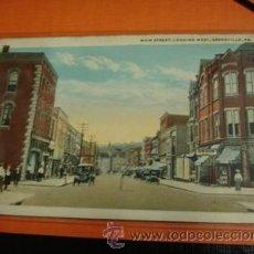 Postales: GREENVILLE MAIN STREET . Lote 31992468
