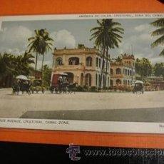 Postales: COLUMBUS AVENUE CRISTOBAL CANAL ZONE. Lote 31992495