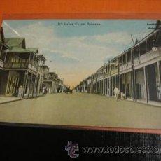 Postales: STREET COLON PANAMA . Lote 31992549