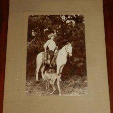 Postales: ANTIGUA FOTOGRAFIA ALBUMINA DE MORELOS, 1903, CUERNAVACA (MEXICO) DIRIGENTE DE LA HACIENDA DE SAN VI. Lote 32855641