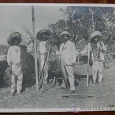 Postales: ANTIGUA FOTOGRAFIA DE CUERNAVACA (MEXICO) HACIENDA DE SAN CARLOS, MORELOS, 1908, MIDE 17 X 12 CMS. E. Lote 32867826