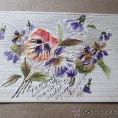 Postales: POSTAL ENVIADA A UNA AMIGA. FLORES, FLOWERS, PUNTAS DE CEBOLLATI, 1913 URUGUAY. Lote 33545388