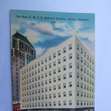Postales: THE NEW G. M. & O. RAILROAD BUILDING MOBILE ALABAMA 114. Lote 33624730