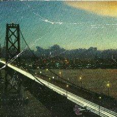 Postales: SAN FRANCISCO - SAN FRANCISCO BAY BRIDGE AT NIGHT - 1958 - CIRCULADA. Lote 33686497
