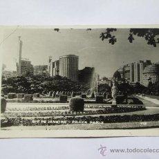Postales: RIO DE JANEIRO, PLACA PARIS, PLAZA, SQUARE, PLACE. Lote 33692419