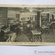 Postales: THE COFFEE SHOP NEW BISMARCK HOTEL, CHICAGO.. Lote 33692421
