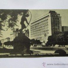 Postales: BUENOS AIRES AVENIDA ALVEAR Y AUTOMOVIL CLUB ARGENTINO 1946 ARGENTINA. Lote 33712410