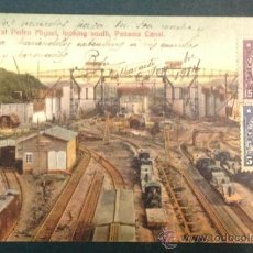 Postales: PANAMA CANAL. LOCKS AT PEDRO MIGUEL LOOKING SOUTH. FERROCARRILES. . Lote 34845831
