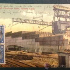 Postales: PANAMA CANAL. EAST WALL. MIRALORES LOCKS. . Lote 34845850
