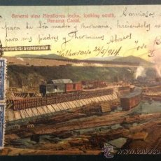Postales: PANAMA CANAL. GENERAL VIEW MIRALORES LOCKS. LOOKING SOUTH. . Lote 34845868