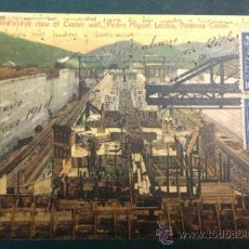 Postales: PANAMA CANAL. BIRD'S EYE VIEW OF CENTER WALL, PEDRO MIGUEL LOCKS. Lote 34845880