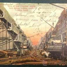 Postales: PANAMA CANAL. VIEW OF EAST CHAMBER MIDDLE LOCK GATUN. LOOKING SOUTH. (ED. I. L. MADURO).. Lote 35005958