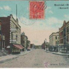 Postales: MONTRÉAL.- RUE BERNARD (BERNARD STREET.). Lote 35106894