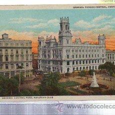 Cartoline: TARJETA POSTAL DE HABANA - PARQUE CENTRAL, CENTRO ASTURIANO. 122623-N. C.JORDI Nº10. Lote 35224154