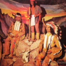 Postales: POSTAL- POSTCARD. SITTING BULL, GERONIMO & RED CLOUD CAPTURED IN TIME INSIDE THE EXCITING.... PETLEY. Lote 35396512