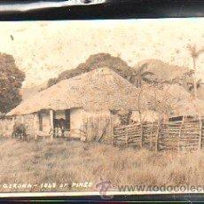 Postales: TARJETA POSTAL FOTOGRAFICA DE ISLA DE PINOS - NUEVA GERONA. UNA CABAÑA. Lote 35890120