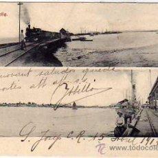 Postales: COSTA RICA. LIMÓN MUELLE. TREN FERROCARRIL. LOCOMOTORA. Nº 35 ANTONOI LEHMANN, SAN JOSE.. Lote 36212374