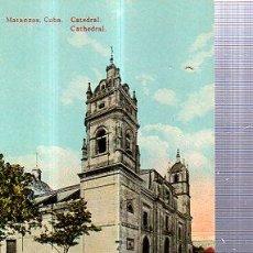 Postales: TARJETA POSTAL MATANZAS, CUBA, CATEDRAL. Lote 36608084