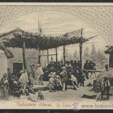 Postales: CHILE - COSTUMBRES CHILENAS LA CUECA - REVERSO SIN DIVIDIR - (15.053). Lote 36847280